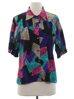 1990's Womens Totally 80s Style Shirt
