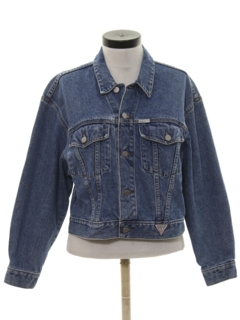 1980's Womens Totally 80s Guess Denim Jacket