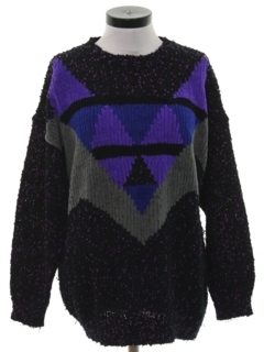1990's Womens Totally 80s Cosby Style Sweater