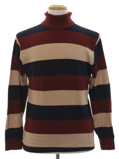 1980's Mens Mod Turtleneck Shirt