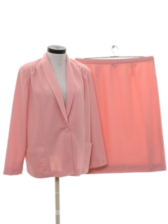1980's Womens Totally 80s 2 Piece Matching Skirt Suit