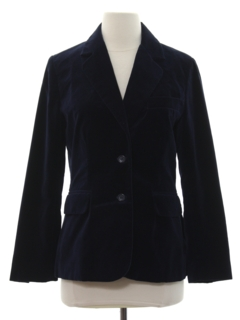 1980's Womens Totally 80s Velvet Blazer Sport Coat Jacket