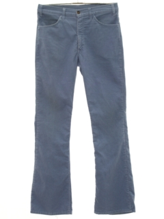 1970's Mens Flared Corduroy Jeans Cut Pants