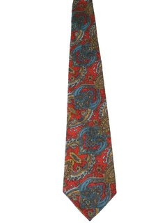 1960's Mens Wide Paisly Necktie