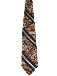1960's Mens Wide Paisley Disco Necktie