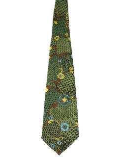 1960's Mens Psychedelic Wide Necktie