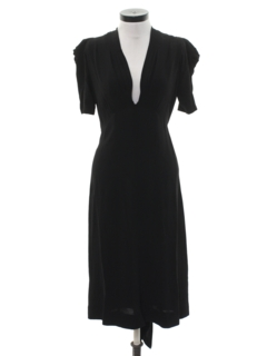 1930's Womens Art Deco Cocktail Dress