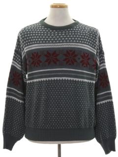 1980's Mens Snowflake Ski Sweater