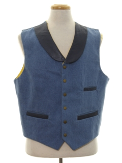 1980's Mens Totally 80s Denim Western Vest