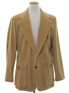 1970's Mens Corduroy Blazer Sportcoat Jacket
