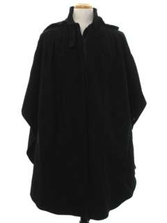 1970's Mens Wool Poncho Cloak Jacket