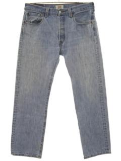 1990's Mens Levis 501 Straight Leg Denim Jeans Pants