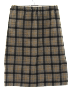 1970's Womens Plaid Skirt