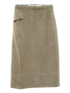 1960's Womens Mod Silk Skirt