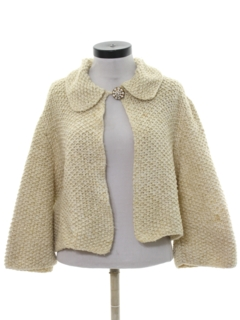 1960's Womens Mod Knit Sweater Jacket