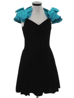 1980's Womens Totally 80s Style Mini Prom Or Cocktail Dress