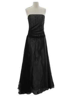 1990's Womens Designer Maxi Prom Or Cocktail Dress