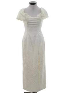 1980's Womens Maxi Wiggle Cocktail or Wedding Dress