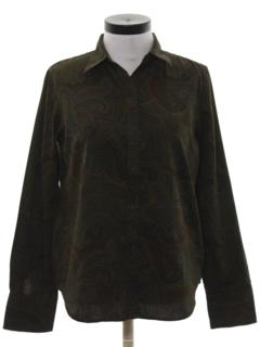 1990's Womens Paisley Print Shirt