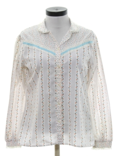 1980's Womens Western Style Hippie Shirt