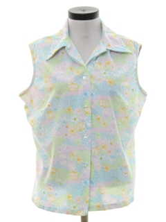 1970's Womens Pow-Flower Hippie Shirt