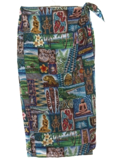 1980's Womens Hawaiian Wrap Skirt