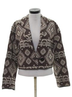 1980's Womens Totally 80s Equestrian Style Jacket