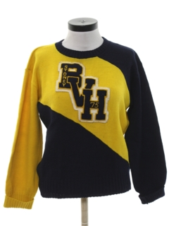 1960's Womens Cheerleader Letterman Style Sweater