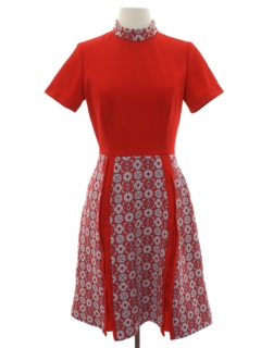 1960's Womens Mod Knit Dress