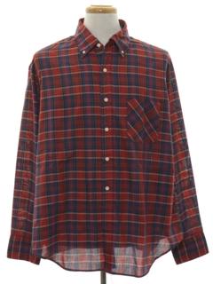 1980's Mens Plaid Shirt
