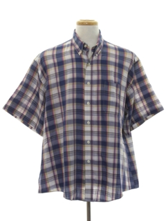 1980's Mens Preppy Plaid Shirt