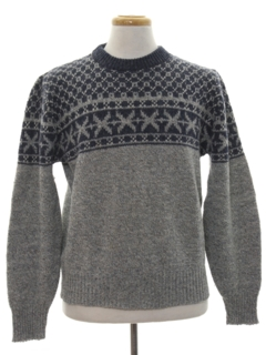 1980's Mens Snowflake Ski Sweater