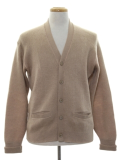 1950's Mens Mohair Cardigan Sweater
