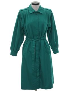 1980's Womens Totally 80s Overcoat Rain Jacket