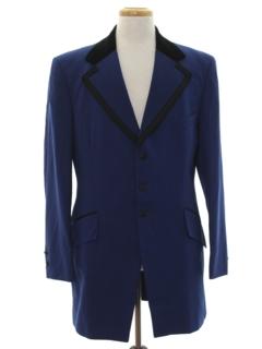 1970's Mens Tuxedo Blazer Sport Coat Jacket