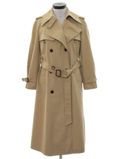 1970's Womens Designer Overcoat Trench Jacket
