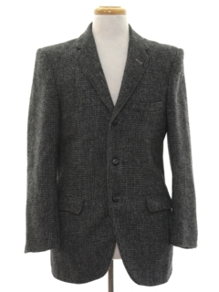 1960's Mens Mod Harris Tweed Blazer Sport Coat Jacket