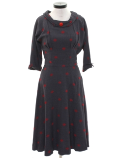 1940's Womens Fab 40s Swing Dress