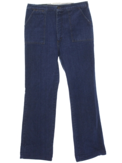 1980's Womens Wide Leg Denim Jeans Pants