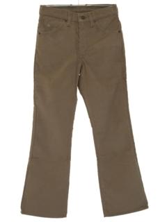 1980's Unisex Levis 517 Bootcut Flared Corduroy Jeans Pants