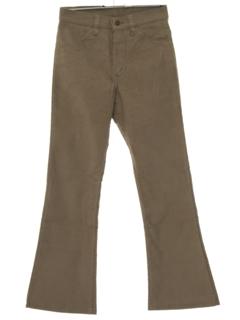 1970's Unisex Levis Rare 646 Bellbottom Corduroy Jeans Pants