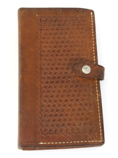 1980's Unisex Accessories - Leather Police Style Clip Board Wallet