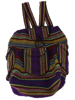 1990's Unisex Accessories - Hippie Backpack