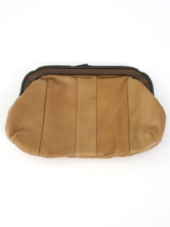 1970's Womens Accessories - Faux Leather Clutch Purse
