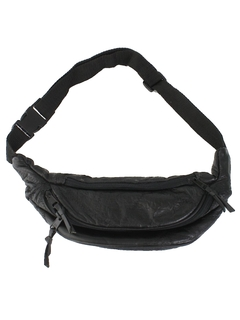 1990's Unisex Accessories - Leather Fanny Pack