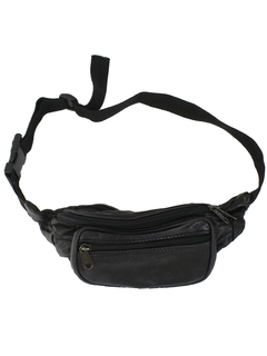 1980's Unisex Accessories - Leather Fanny Pack