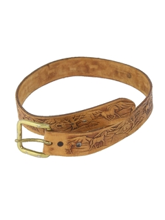 1980's Unisex Accessories - Leather Belt