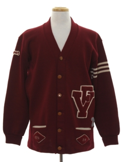 1950's Mens Letterman Sweater