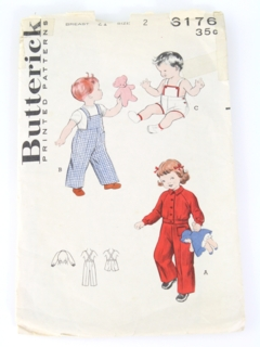 1960's Unisex Toddler Pattern