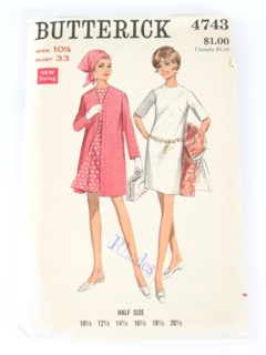 df29848ce1992 Womens Vintage 60s Butterick Patterns at RustyZipper.Com Vintage ...